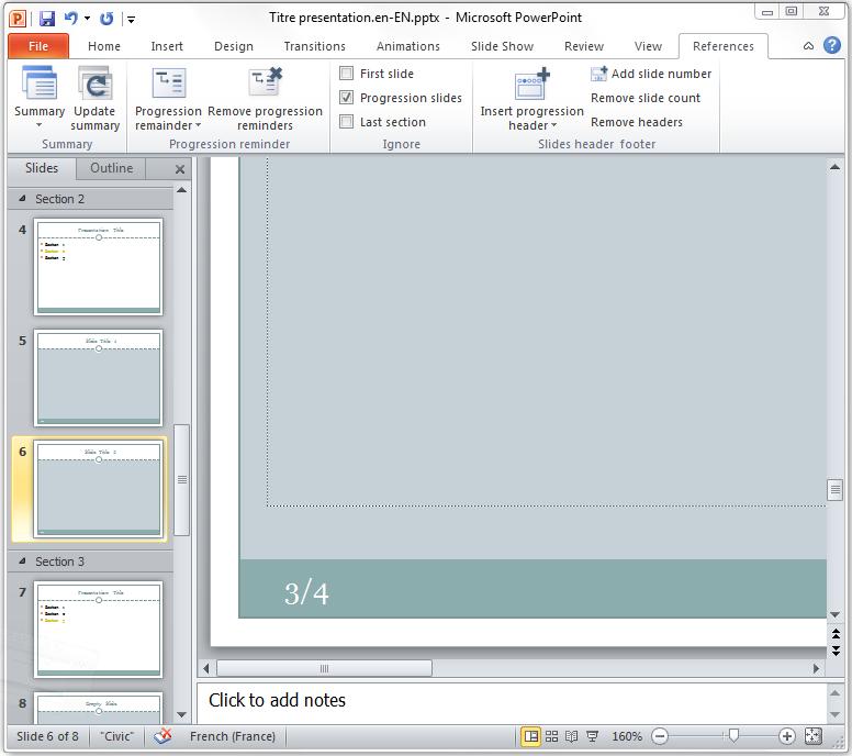 AutoSummary, Office PowerPoint 2010, Apps Fabrik