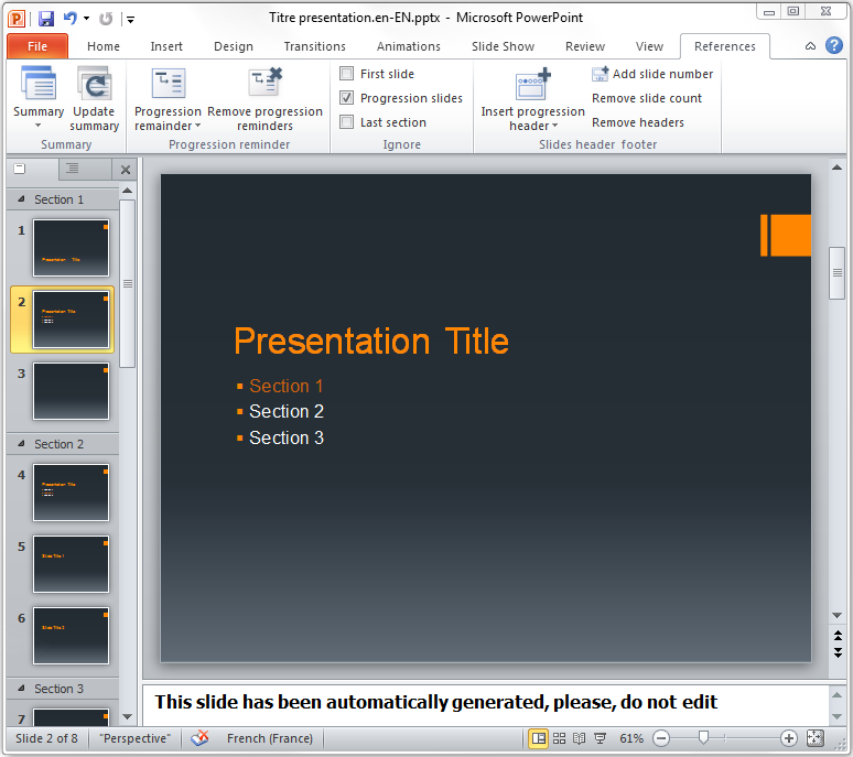 Create Summary Slide Ppt 2010 | - 64.6KB